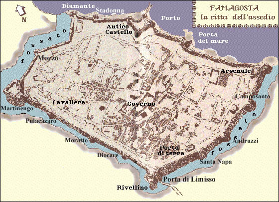 Famagusta The City in Maps cypnetcouk