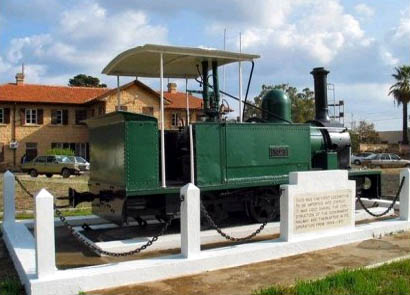 The engine no.1 of the last train from Nicosia to Famagusta on 31st December 1951 now rests for display in Polat Pasha Boulevard in Famagusta
